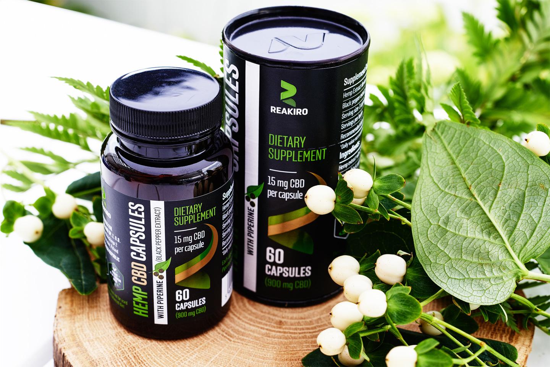 Reakiro Hemp cbd capsules wholesale 30 CBD 450mg