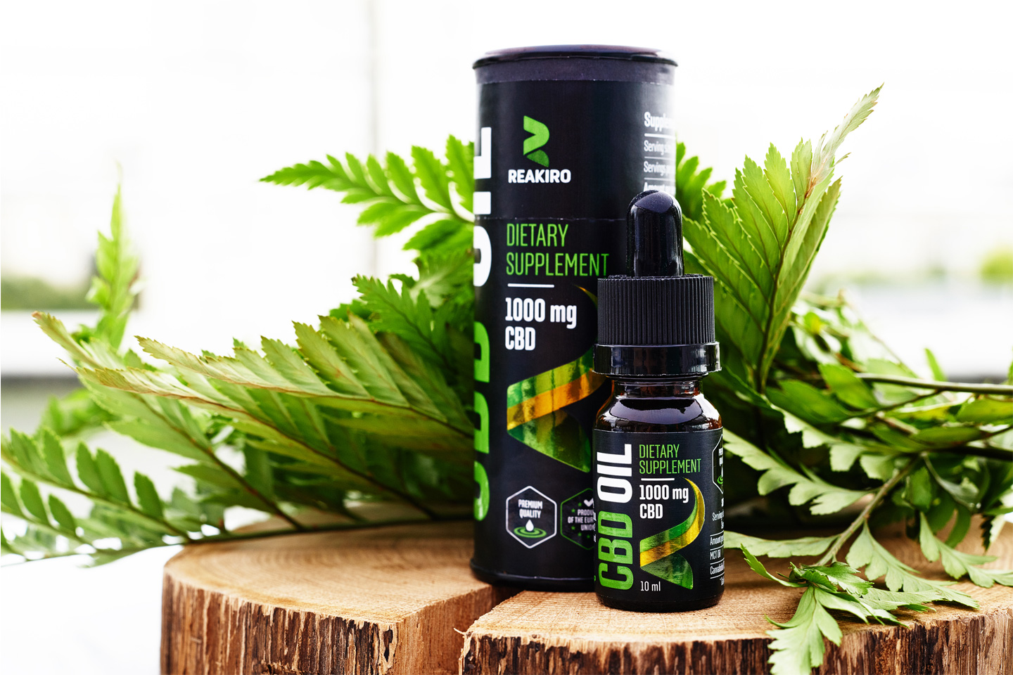 Reakiro CBD oil wholesale 3%, 5%, 10%, 15% CBD bottle